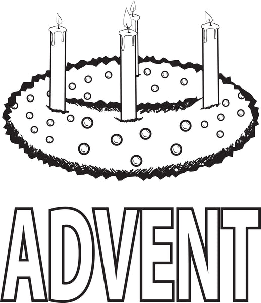 Printable Advent Wreath Coloring Page for Kids - SupplyMe