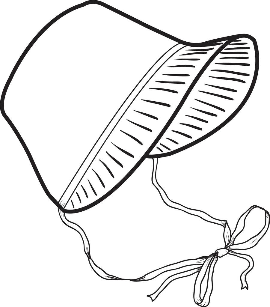Free Printable Pilgrim Bonnet Coloring Page For Kids Supplyme