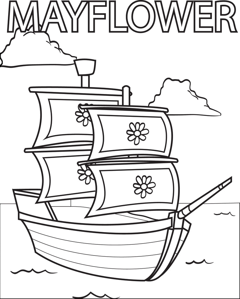 This is a graphic of Gorgeous mayflower coloring page