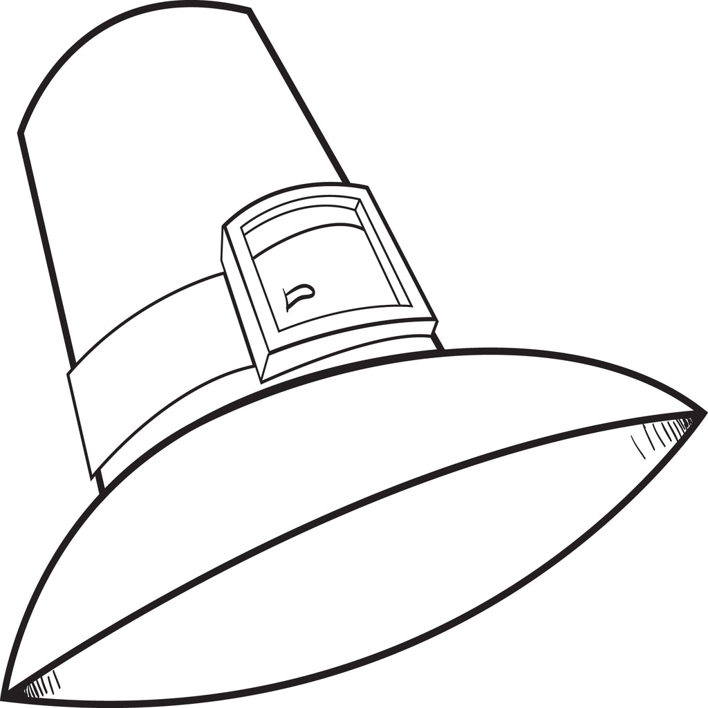 graphic about Printable Pilgrim Hat named Totally free Printable Pilgrim Hat Coloring Website page for Young children #2 SupplyMe