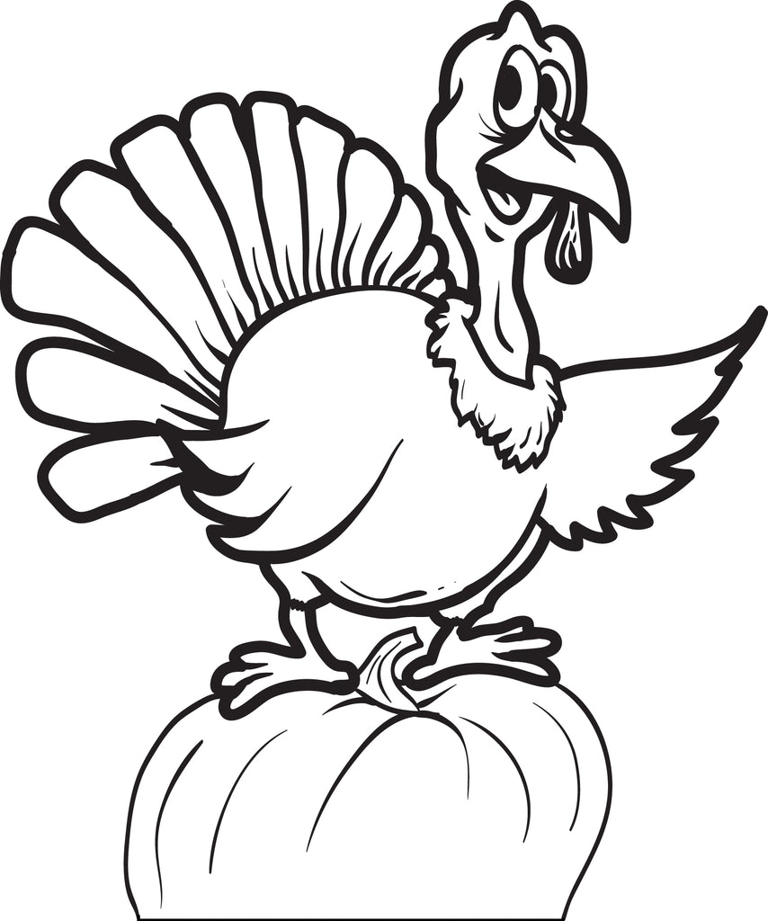 - Printable Thanksgiving Turkey Coloring Page For Kids #8 – SupplyMe