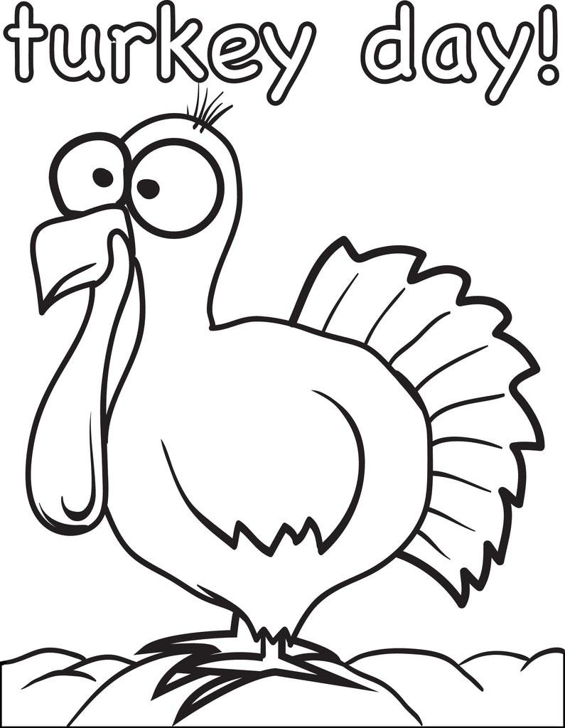 FREE Printable Thanksgiving Turkey Coloring Page for Kids ...