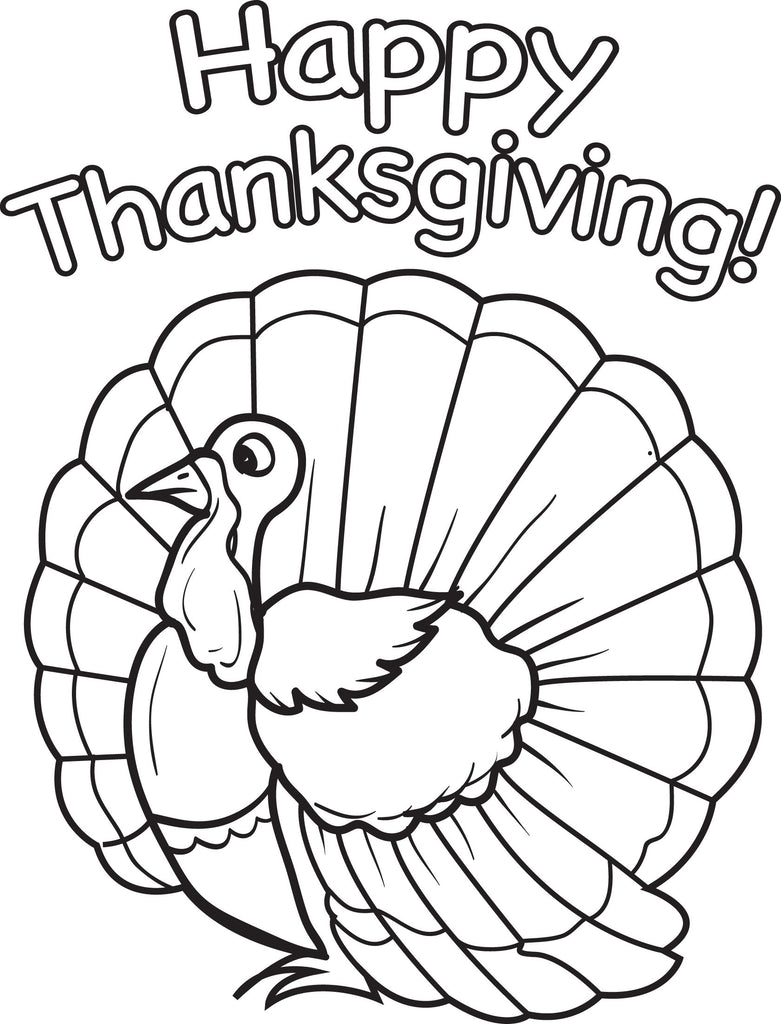Printable Thanksgiving Turkey Coloring Page For Kids 14 Supplyme