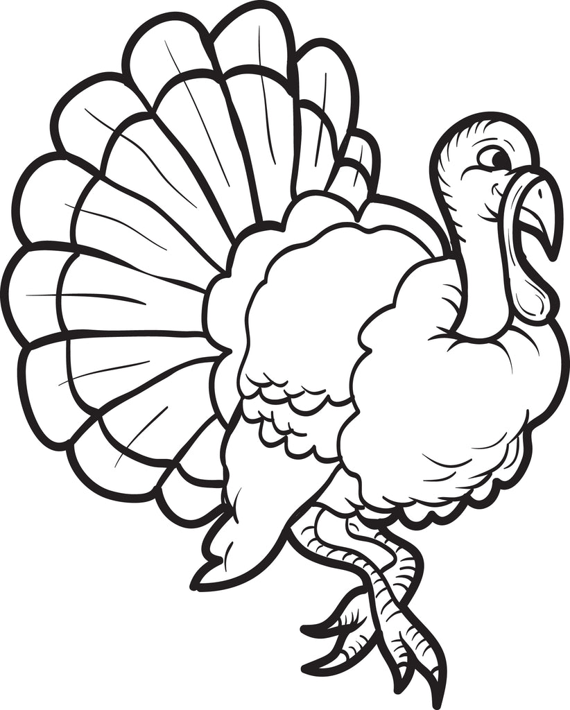 Printable Turkey Coloring Page For Kids 15 Supplyme