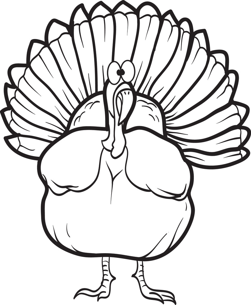 Printable Turkey Coloring Page For Kids 16 Supplyme