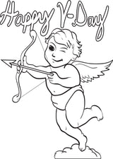 Cupid Coloring Page #3