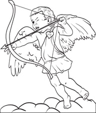 Cupid Coloring Page #4