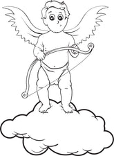 Cupid Coloring Page #6