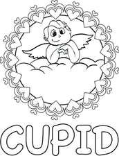 Cupid Coloring Page #7