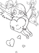 Cupid Coloring Page #9