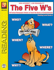 Remedia Publications The Five W's Reading Activity Book, 3rd Grade Reading Level