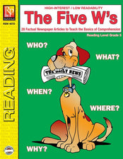 Remedia Publications The Five W's Reading Activity Book, 5th Grade Reading Level