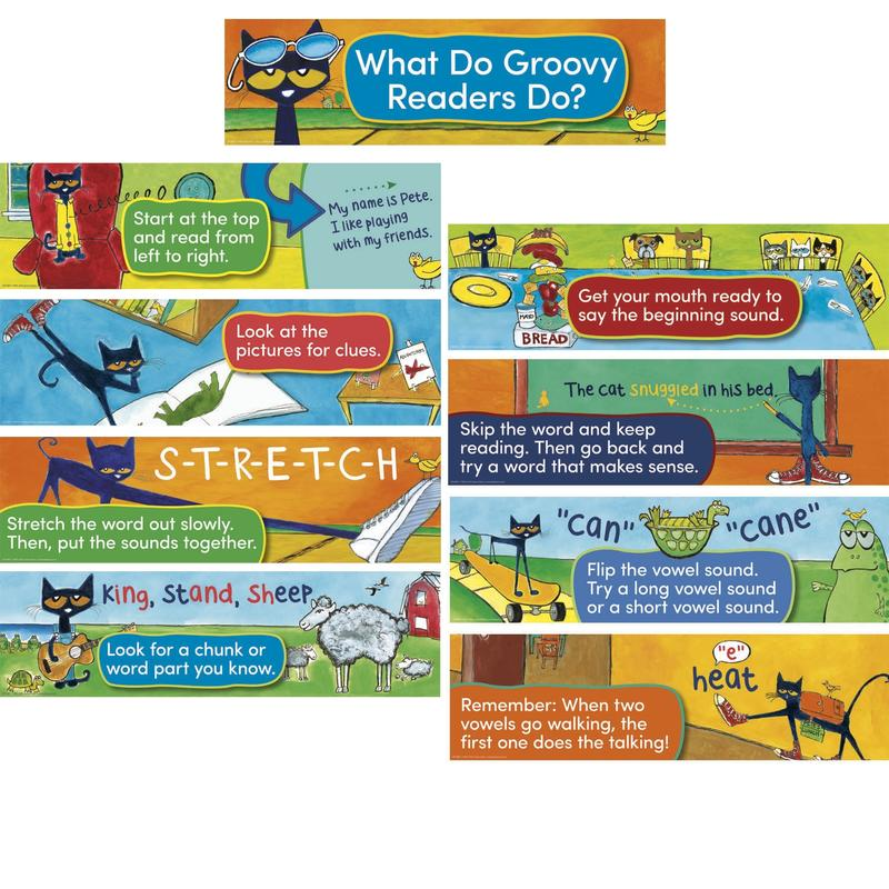 Teacher Created Resources Pete the Cat® Reading Strategies Mini Bulletin Board Set
