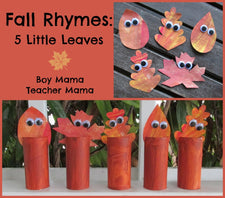 5 Little Leaves Craft & Poem for Fall!