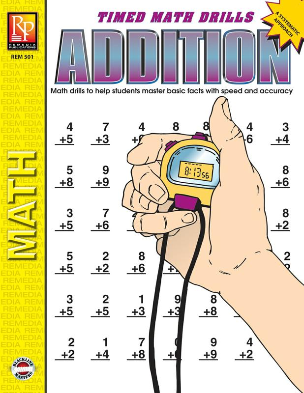 Remedia Publications Timed Math Drills Addition Activity Book