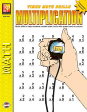 Remedia Publications Timed Math Drills Multiplication Activity Book