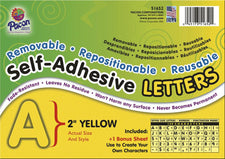 "Self-Adhesive Letters, 2"" Yellow"