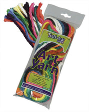 Art Yarn Bright Colors Assortment, 10 Strands, 50'