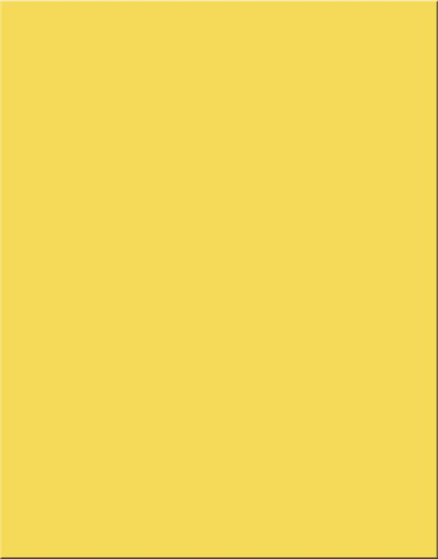 Poster Board, 6-Ply Coated Yellow