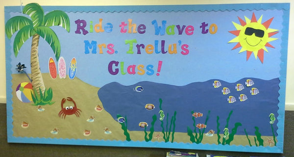 Quot Ride The Wave To Third Grade Quot B2s Bulletin Board Idea