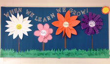 """When We Learn We Grow!"" Bulletin Board Idea"