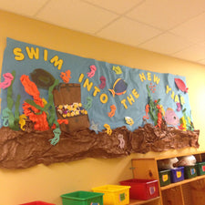 """Swim Into the New Year"" Bulletin Board Idea"