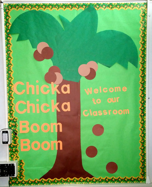 Quot Chicka Chicka Boom Boom Quot Welcome To Class Bulletin Board