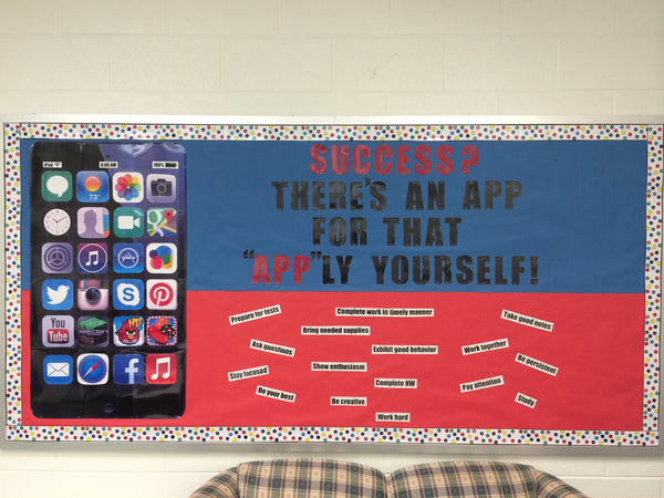 Classroom Decoration Window ~ Quot success there s an app for that back to school