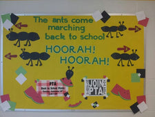 """The Ants Come Marching Back to School..."" Bulletin Board Idea"