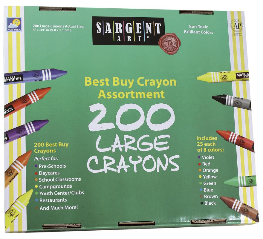 200 Large Size Sargent Art Crayons