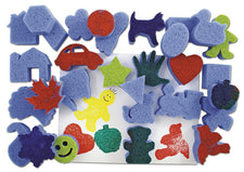 Super Value Favorite Shapes Dip And Print Painting Sponges