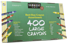 Sargent Art Best Buy Crayon Assortment, 400 Large Crayons
