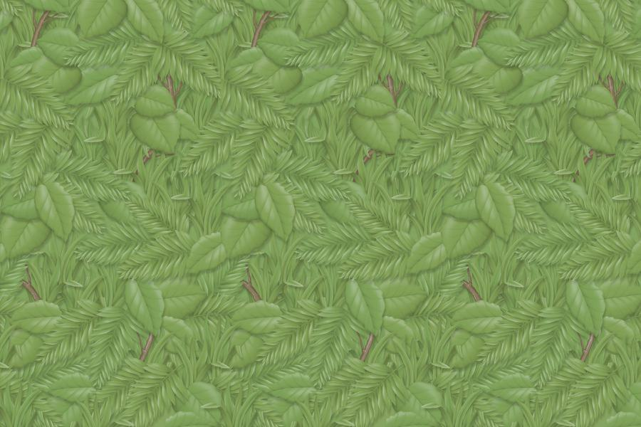 "Fadeless® Tropical Foliage Paper Roll, 48"" x 50'"