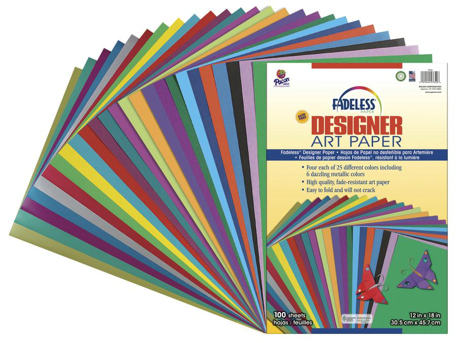Fadeless Designer Paper Assorted 12 x 18 100 Sheets