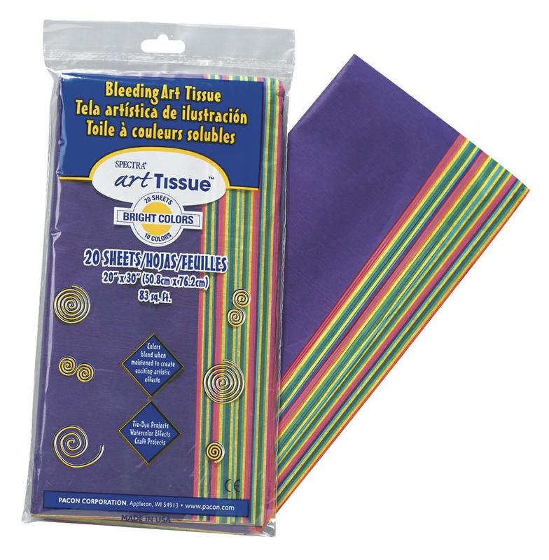 Spectra® Deluxe Art Tissue™, Bright Color Assortment