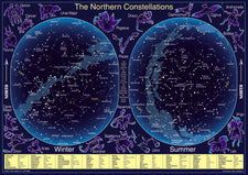 The Northern Constellations Chart