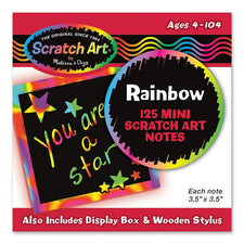 Box Of Rainbow Mini Notes 125 Cards