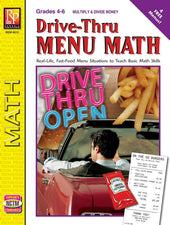 Remedia Publications Drive-Thru Menu Math Activity Book: Multiply & Divide Money