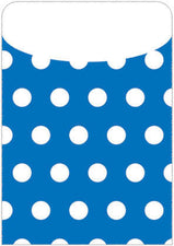 Blue Polka Dot Peel & Stick Brite Pockets, 25/Bag