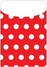 Red Polka Dot Peel & Stick Brite Pockets, 25Pk
