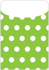 Green Polka Dot Peel & Stick Brite Pockets, 25Pk