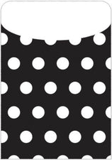 Black Polka Dot Peel & Stick Brite Pockets, 25Pk