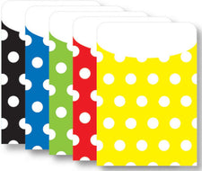 Polka Dot Peel & Stick Brite Pockets Assorted, 25Pk
