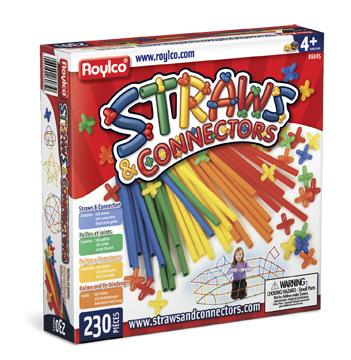 Roylco® Straws & Connectors®, 230 Pieces
