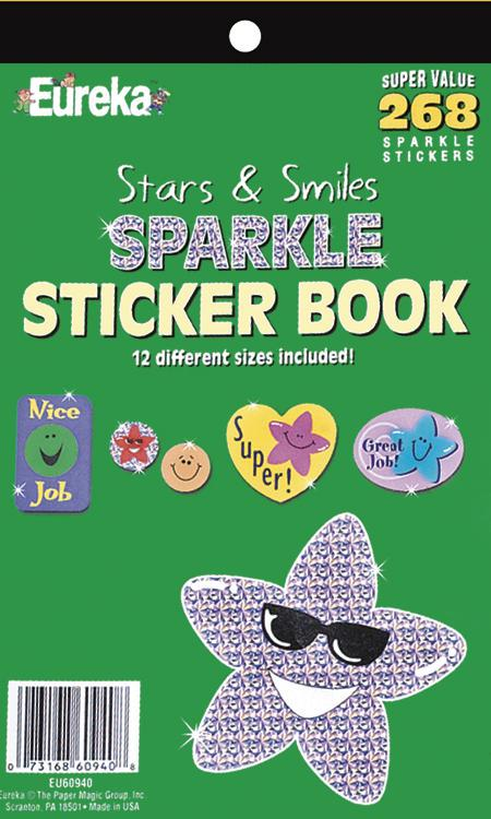 Sticker Book Stars & Smiles 268/Pk Sparkle