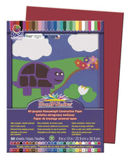 "SunWorks® Construction Paper, 9"" x 12"" Red"