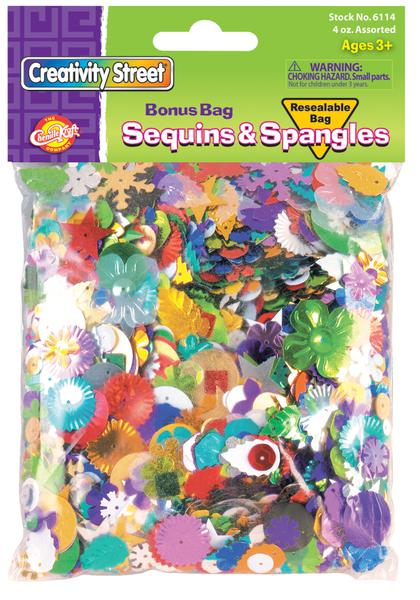 Sequins and Spangles - 4 Oz Bag