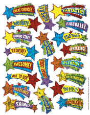 Shooting Stars Sparkle Stickers