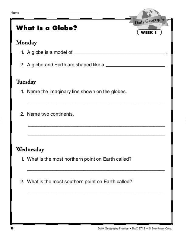 Daily Geography Practice, Grade 3