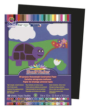 "SunWorks® Construction Paper, 9"" x 12"" Black"